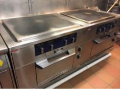 1 x Electrolux Thermoline Twin Range Cookers With Solid Top Griddles - 3 Phase - Recently Removed Fr