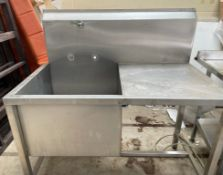 1 x Stainless Steel Sink Basin Unit With Extra Deep Sink Basin - 120 cm Wide and 60cm Deep Sink
