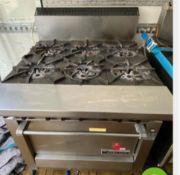 1 x Garland Heavy Duty 6 Burner Range Cooker -CL667 - Location: Brighton, Sussex, BN26Collections: