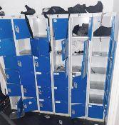 6 x Sets of Upright Staff Lockers - Dimensions: H180 x W30 - CL674 - Location: Telford, TF3 1 x