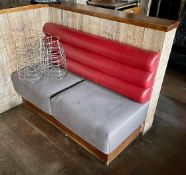 3 x Seating Benches With Various Designs - Ideal For Restaurants or Nightclubs etc - Approx Length