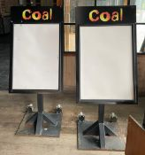2 x Outdoor Menu Boards With Heavy Duty Bases on Castors - Dimensions: H110 x W68 cms - CL674 -
