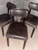 8 x Dining Chairs Including 3 x Brown Leather Chairs and 5 x Orange Stackable Chairs - CL674 -