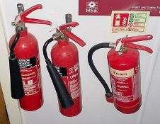 3 x Fire Extinguishers - CL674 - Location: Telford, TF3 Collections: This item is to be removed from