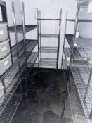 5 x Walk in Fridge Wire Shelves in Chrome - Various Sizes Included - CL674 - Location: Telford,