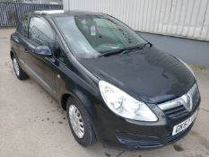 2007 Vauxhall Corsa Life Automatic - CL505 - Ref: VVS0017 - NO VAT ON THE HAMMER - Location: Corby,