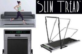 1 x Slim Tread Ultra Thin Smart Treadmill Running / Walking Machine - Lightweight With Folding