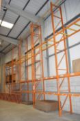 11 x Bays of RediRack Warehouse Pallet Racking - Lot Includes 10 x Uprights and 30 x Crossbeams -