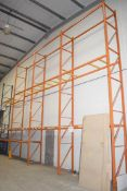 4 x Bays of RediRack Warehouse Pallet Racking - Lot Includes 5 x Uprights and 26 x Crossbeams -