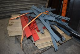 Collection of Boltless Garage / Warehouse Shelving With Wooden Shelves - Dismantled Ready for