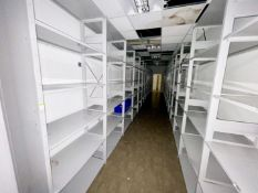 26 x Bays of Warehouse Store Shelving - Includes 28 x 250x46cm Uprights and 150 x 97x45cm
