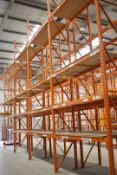 5 x Bays of RediRack Warehouse Pallet Racking - Lot Includes 6 x Uprights and 36 x Crossbeams -