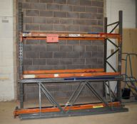 3 x Bays of Warehouse Racking - Lot Includes 4 x Uprights and 8 x Crossbeams - Dimensions: Approx