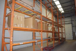 5 x Bays of RediRack Warehouse Pallet Racking - Lot Includes 6 x Uprights and 38 x Crossbeams -