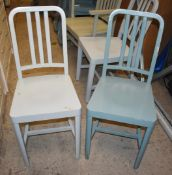 6 x Designer Billiani CO2 Contemporary Wooden Dining Chairs - Designed By Aldo Cibic - Made in Italy