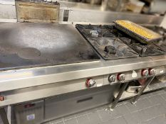 1 x ANGELO-PO Commercial Stainless Steel Griddle And 4-Burner Hob
