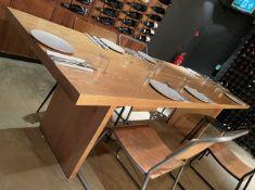 1 x 2.8 Metre Long WoodenDining / Banquet Table - Dimensions: H76 x W280 x D80cm - Ref: MAN140 -