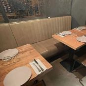 6 x Sections Of Commercial Upholstered Banquet Seating - A Total Of 9-Metres In Length - Ref: MAN129