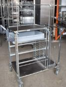1 x Pickers Warehouse Trolley - Dimensions: H106 x W100 x D60 cms - Recently Removed From Major