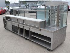 1 x Heated Retail Counter For Take Aways, Hot Food Retail Stores or Canteens etc - Features a Heated