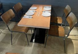 15 x Bistro Dining Chairs Featuring Wooden Back And Seats With Sturdy Metal Frames - Ref: MAN142 -