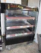 1 x Frijado Multi Deck 100 3 Level Heated Grab and Go Display Warmer - 400v 3 Phase - 100 cms Width