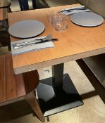 10 x Square Bistro Tables Featuring Wooden Tops And Sturdy Metal Bases - Dimensions To Follow - Ref:
