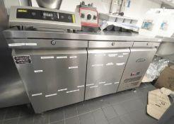 1 x WILLIAMS 2-Door Commercial Stainless Steel Counter Fridge - Original RRP £2,195