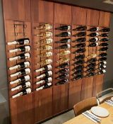 6 x Wooden Wall Panels With Wine Racks Boasting A Combined Capacity Of 60 x Bottles