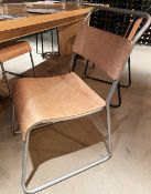 5 x Bistro Dining Chairs Featuring Curved Light Wood Back And Seats With Sturdy Metal Frames