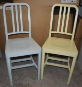 4 x Designer Billiani CO2 Contemporary Wooden Dining Chairs - Designed By Aldo Cibic - Made in Italy