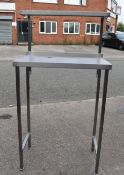 1 x Tall Stainless Steel Workstation Computers, Printers or Epos etc - Features Cable Tidy and