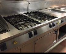 1 x Electrolux Thermoline Four Burner Range Cooker - Gas Powered - Recently Removed From a Luxury