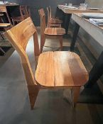 12 x Solid Wood Bistro Bar Dining Chairs - Ref: MAN141 - CL677 - Location: London W1F