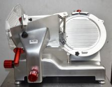 1 x Sure Professional 12 Inch Manual Straight Feed Meat Slicer Suitable For Cooked and Cured