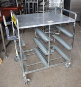 1 x Pickers Warehouse Trolley - Dimensions: H93 x W102 x D67 cms - Recently Removed From Major