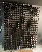 1 xLarge Bank Of Wine Racking - With A Capacity Of Up To 374 x Bottles - Dimensions: H206 x 165 x