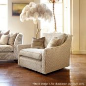 1 x DURESTA Hermitage Swivel Chair Upholstered In A Light Grey Premium Woven Fabric - RRP £3,729