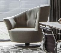 1 x GIORGETTI 'Arabella' Large Luxury Swivel Velvet Upholstered Armchair With Cushion - RRP £4,228
