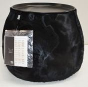 1 x B&B ITALIA 'Fat Fat' Lady Fat Low Coffee Table In Black Genuine Cow Hide - Original RRP £1,849