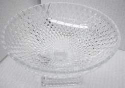 1 x BALDI 'Home Jewels' Italian Hand-crafted Artisan Large Round Clear Crystal Bowl - RRP £1,925