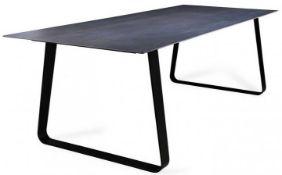 1 x LIGNE ROSET 'Vilna' Extending Dining Table WithGrey Anthracite Top- Original RRP £2,429
