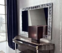 1 x GIORGIO COLLECTION 'Absolute' Luxury Italian Mirror With Murano Glass Frame- RRP £5,508