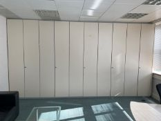 5 x Double Doors Storage Units - Each Measures W50 x H260 x D38cm - Ref: ED159C - To Be Removed From