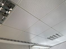 Approximately50 x Metal Ceiling Tiles - Some With Lights - Each Tile Measures Around 59x59cm&n
