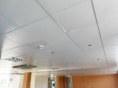 Approx 150 x Ceiling Tiles (Some With Lights) Plus Air Conditioning Unit - Tile Dimensions Approx.