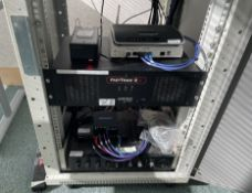 Server Unit With 7 x Assorted Items Of Network And Video Equipment - Ref: ED159G - To Be Removed