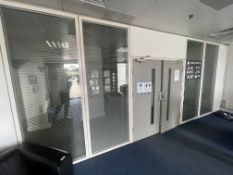 4 x Partition Panels With Privacy Blinds - Each Measures W265 x W100cm - Ref: ED157 - To Be Removed