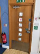 1 x Fire Door With Frame, Closer And Push To Open Button Emergency Pad - Dimensions: W104 x H229cm -