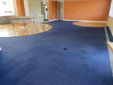 Large Quantity Of Carpet Tiles In Blue - Supplied As Area Shown - Ref: ED160B - To Be Removed From A